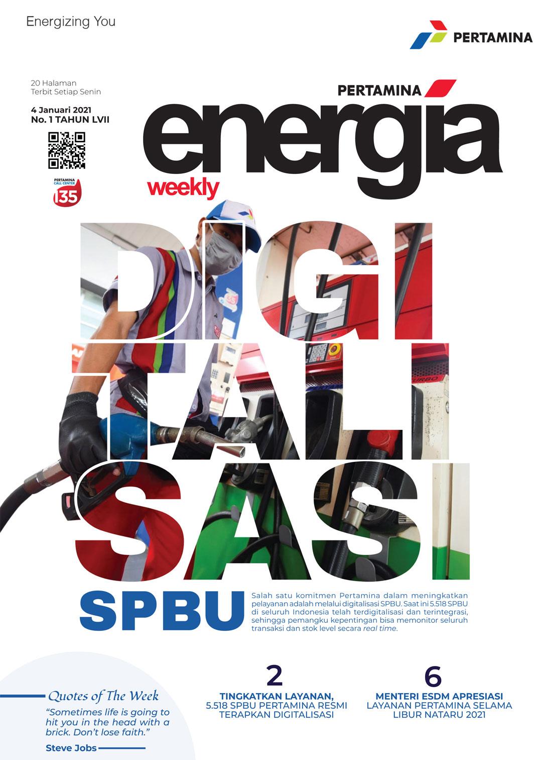 Energia Weekly 1st Week of January 2021