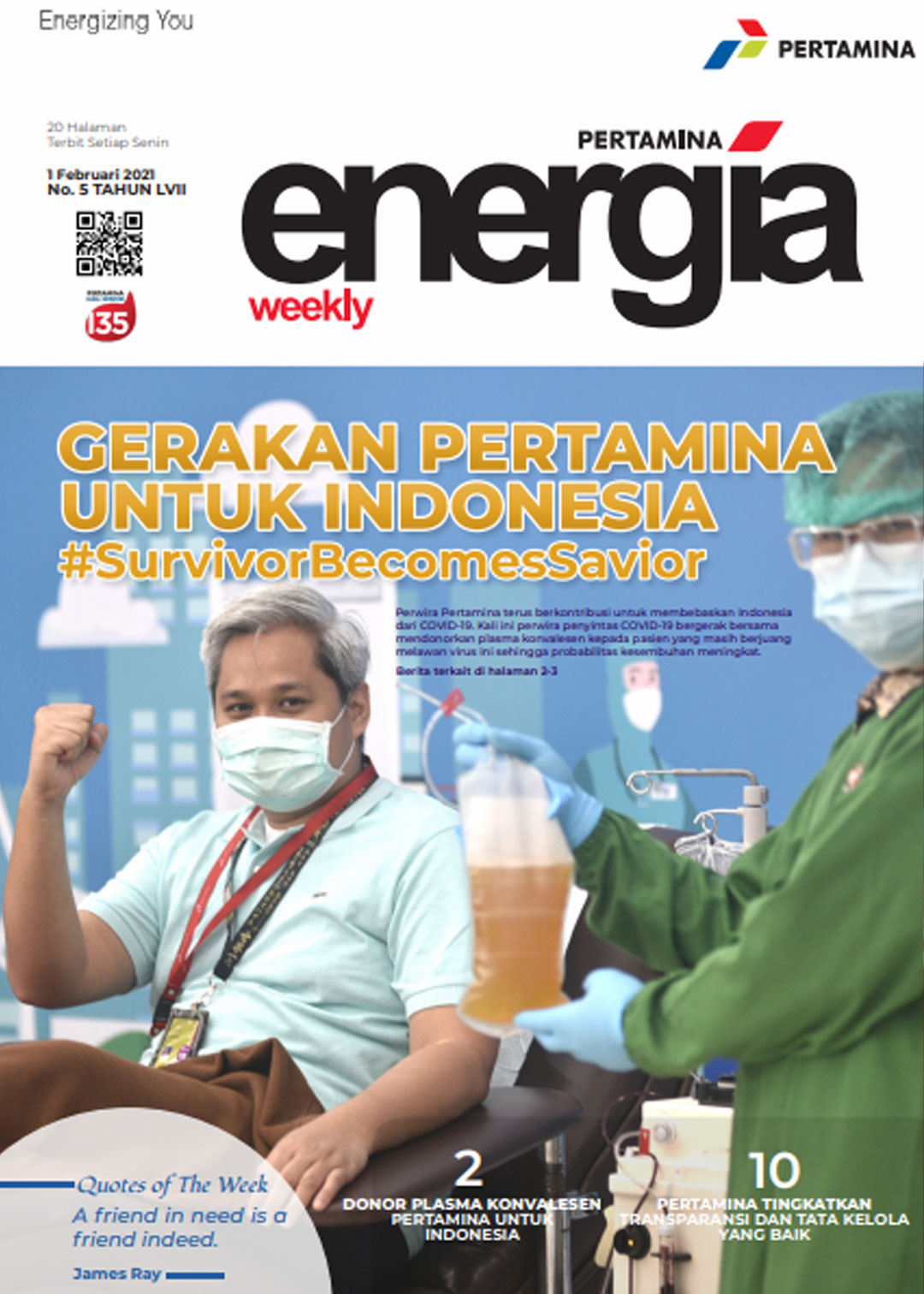 Energia Weekly 1st Week of February 2021
