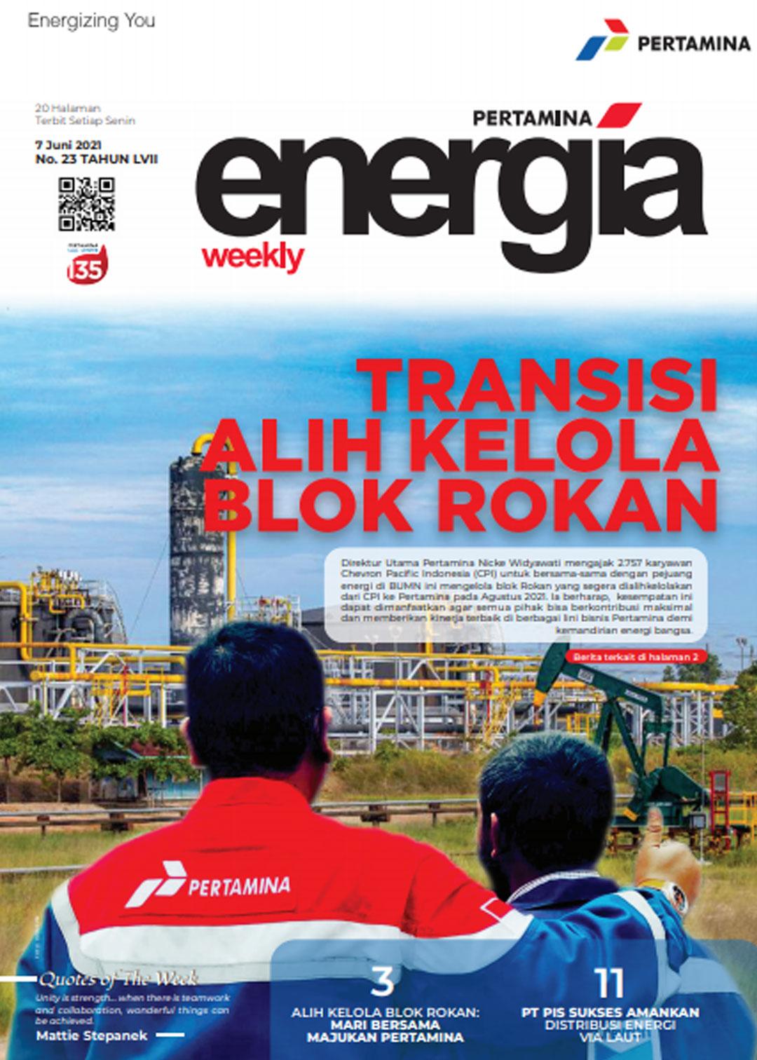 Energia Weekly 1st Week of June 2021