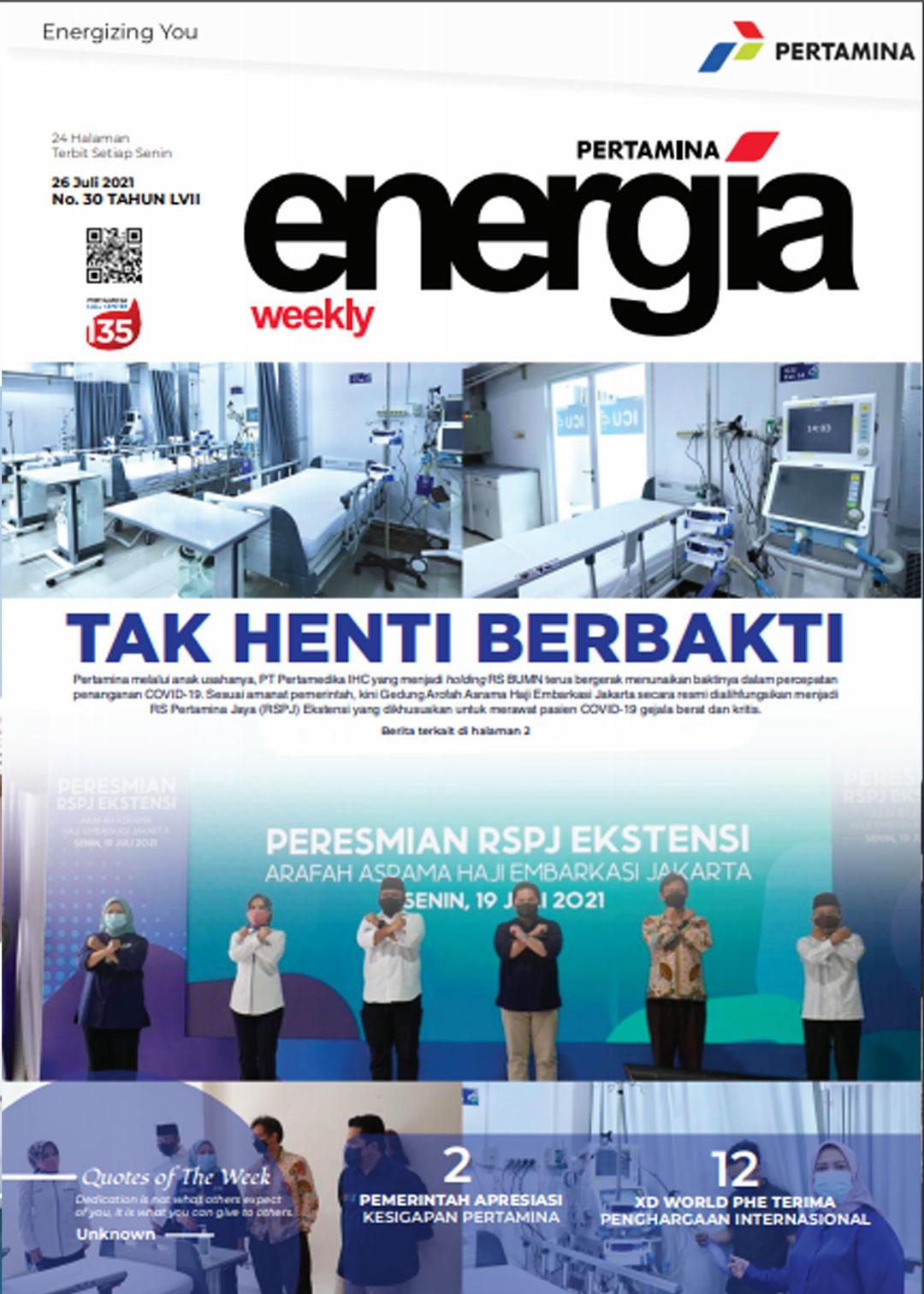 Energia Weekly 4th Week of July 2021
