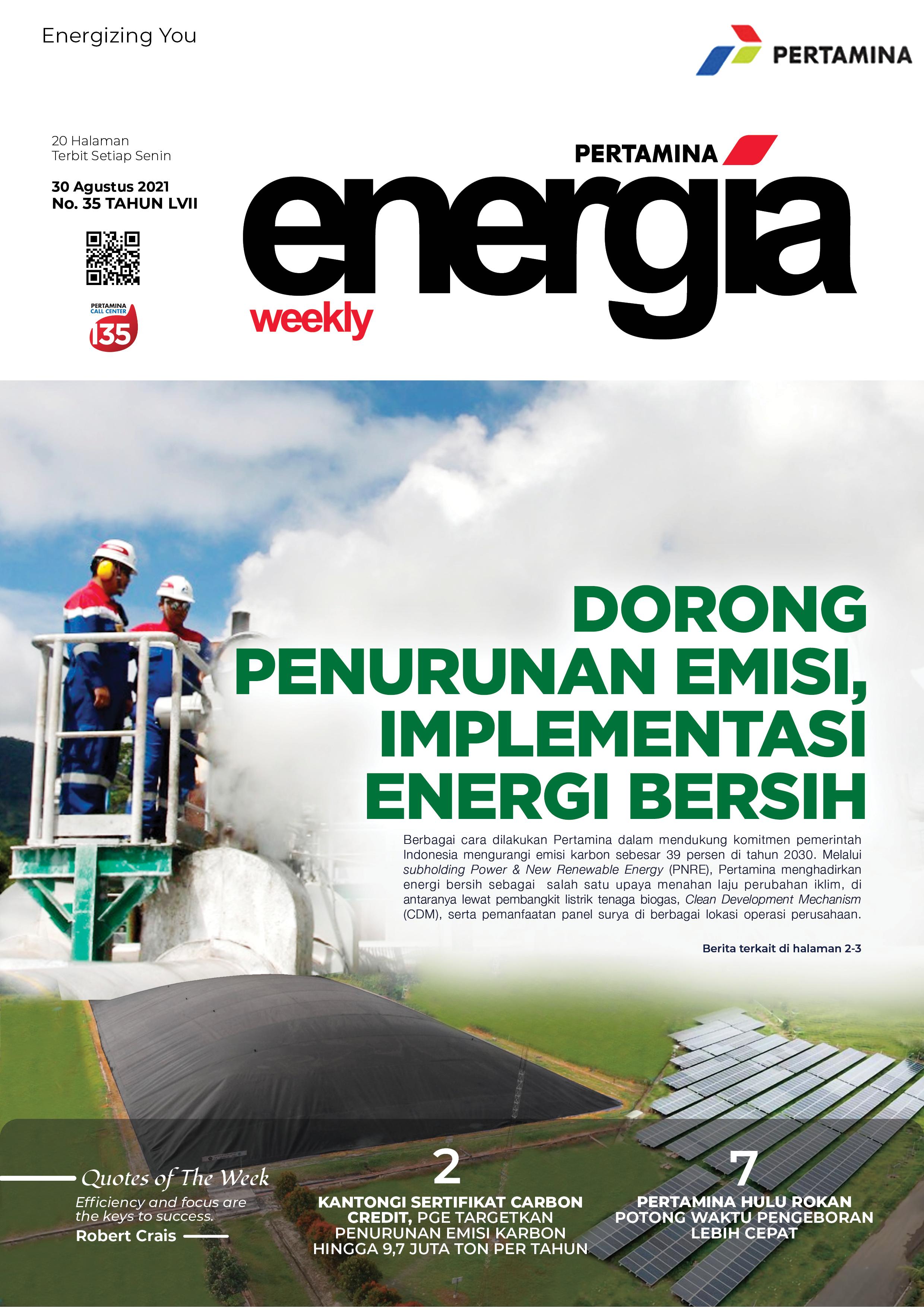 Energia Weekly 5th Week of August 2021