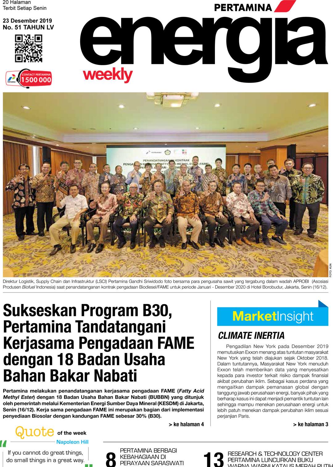 Energia Weekly 4th Week of December 2019