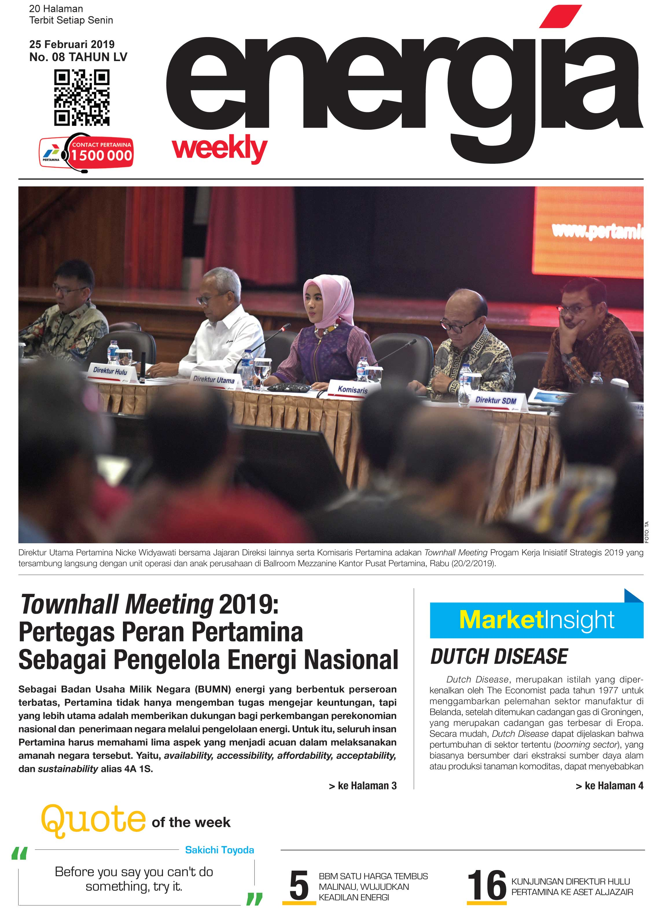 Energia Weekly 5th Week Of February 2019