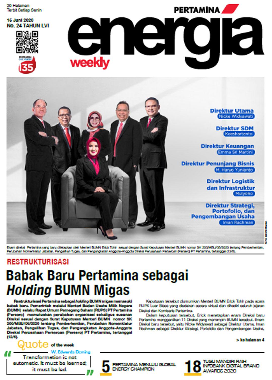 Energia Weekly 3rd Week of June 2020
