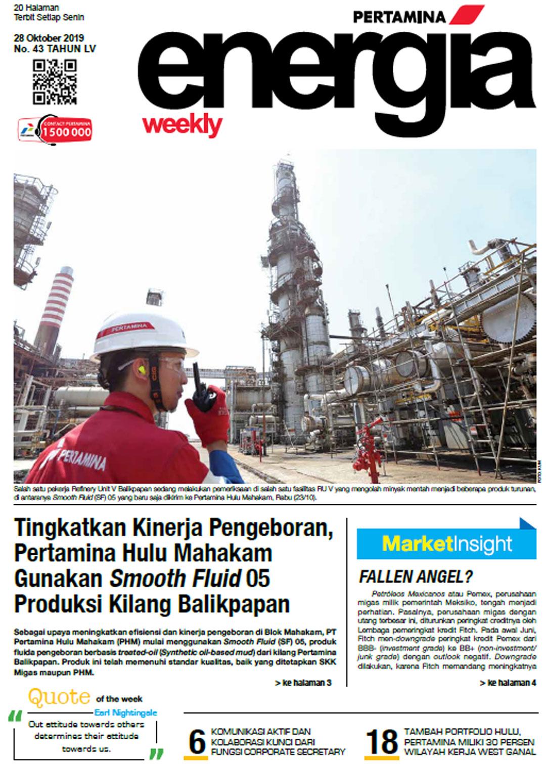 Energia Weekly 5th Week of October 2019
