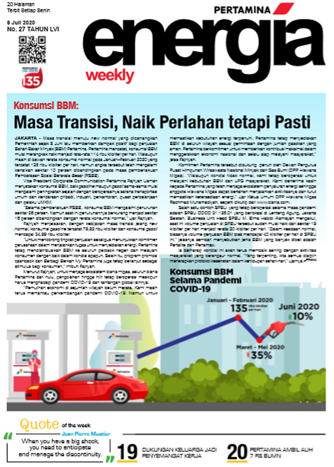 Energia Weekly 1st Week of July 2020