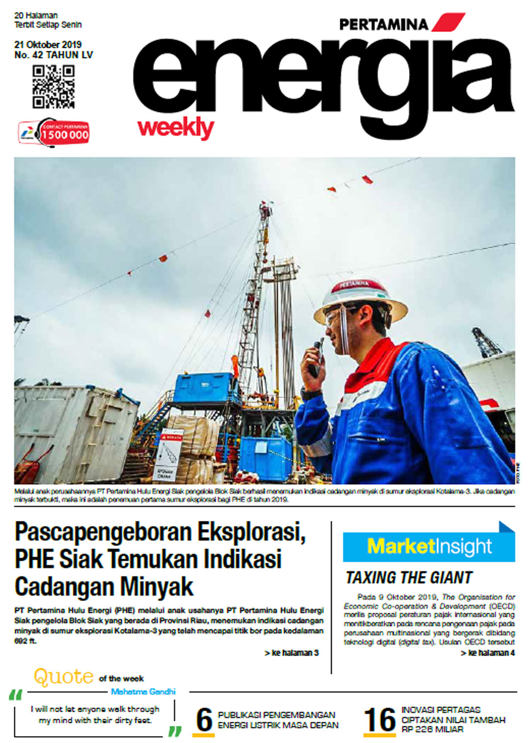 Energia Weekly 4th Week of October 2019