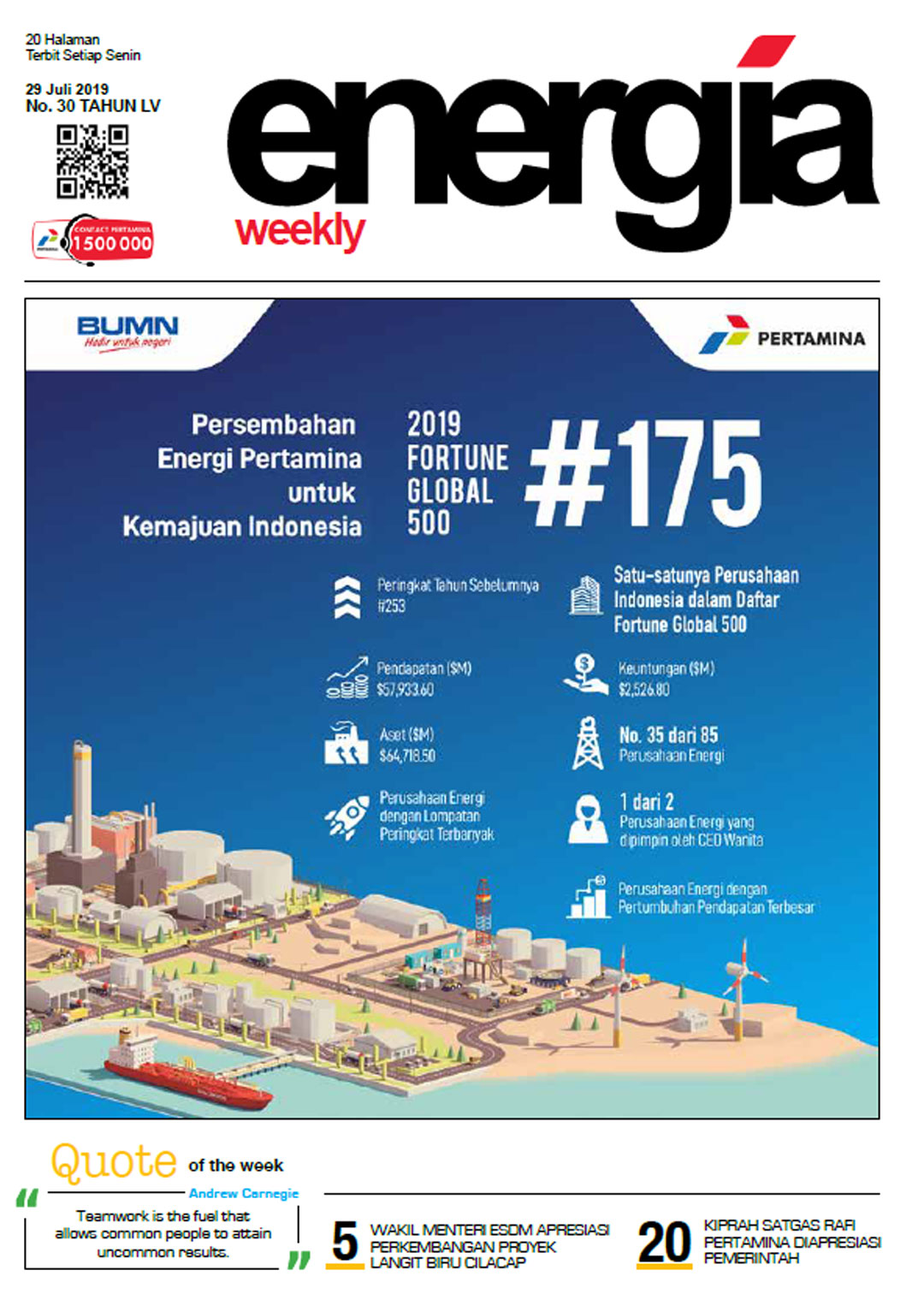 Energia Weekly 5th Week of July 2019