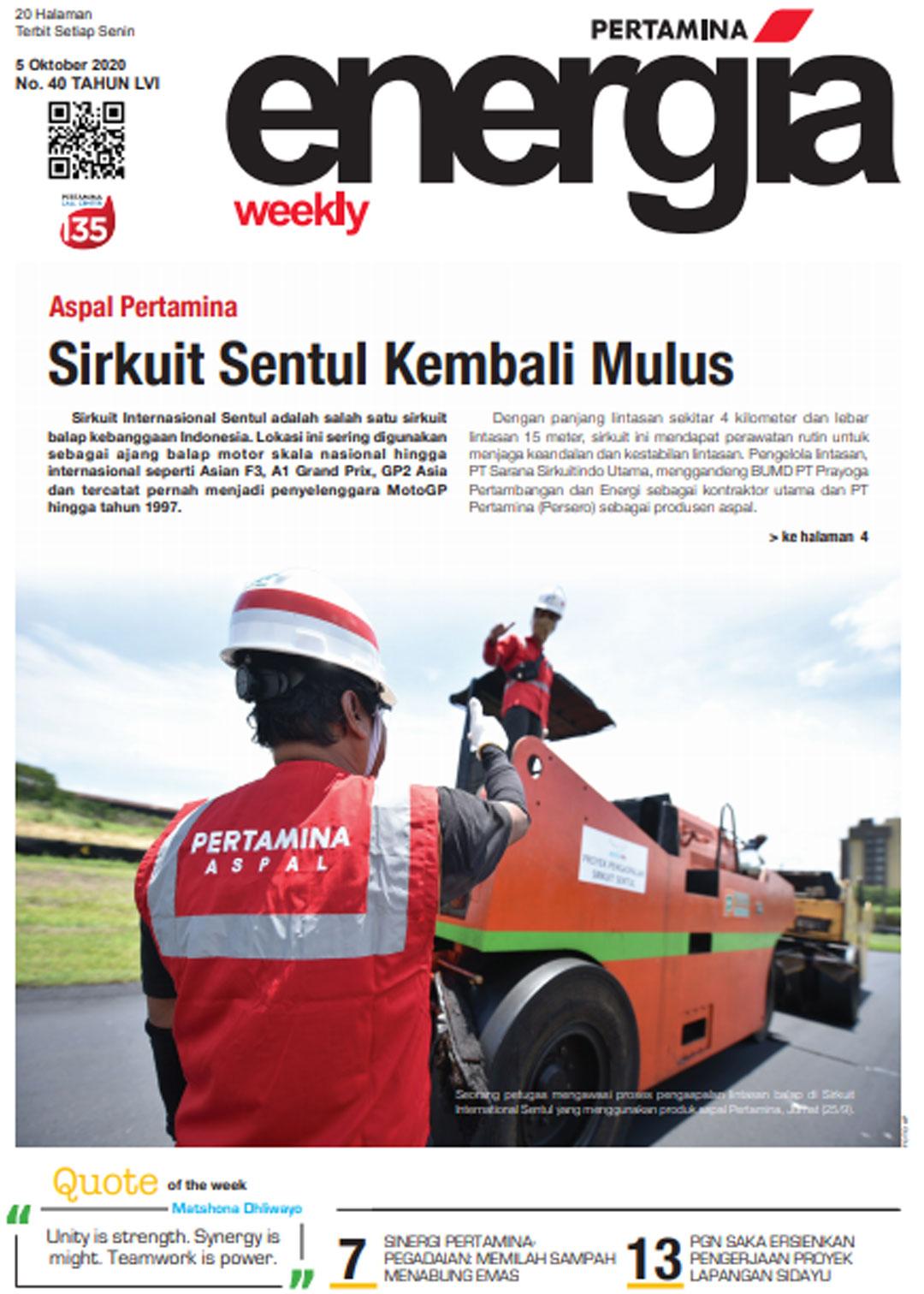 Energia Weekly 1st Week of October 2020