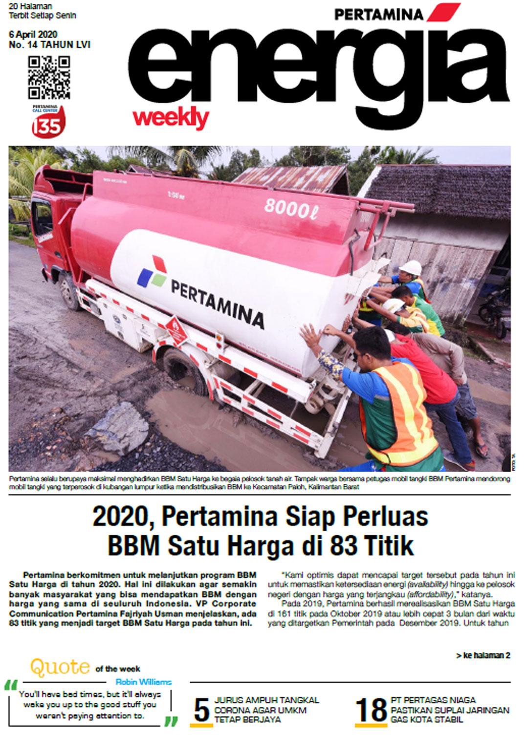 Energia Weekly 1st Week of April 2020