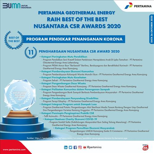 https://pertamina.com/id/news-room/news-release/pertamina-geothermal-energi-raih-best-of-the-best-dan-11-penghargaan-nusantara-csr-awards-2020