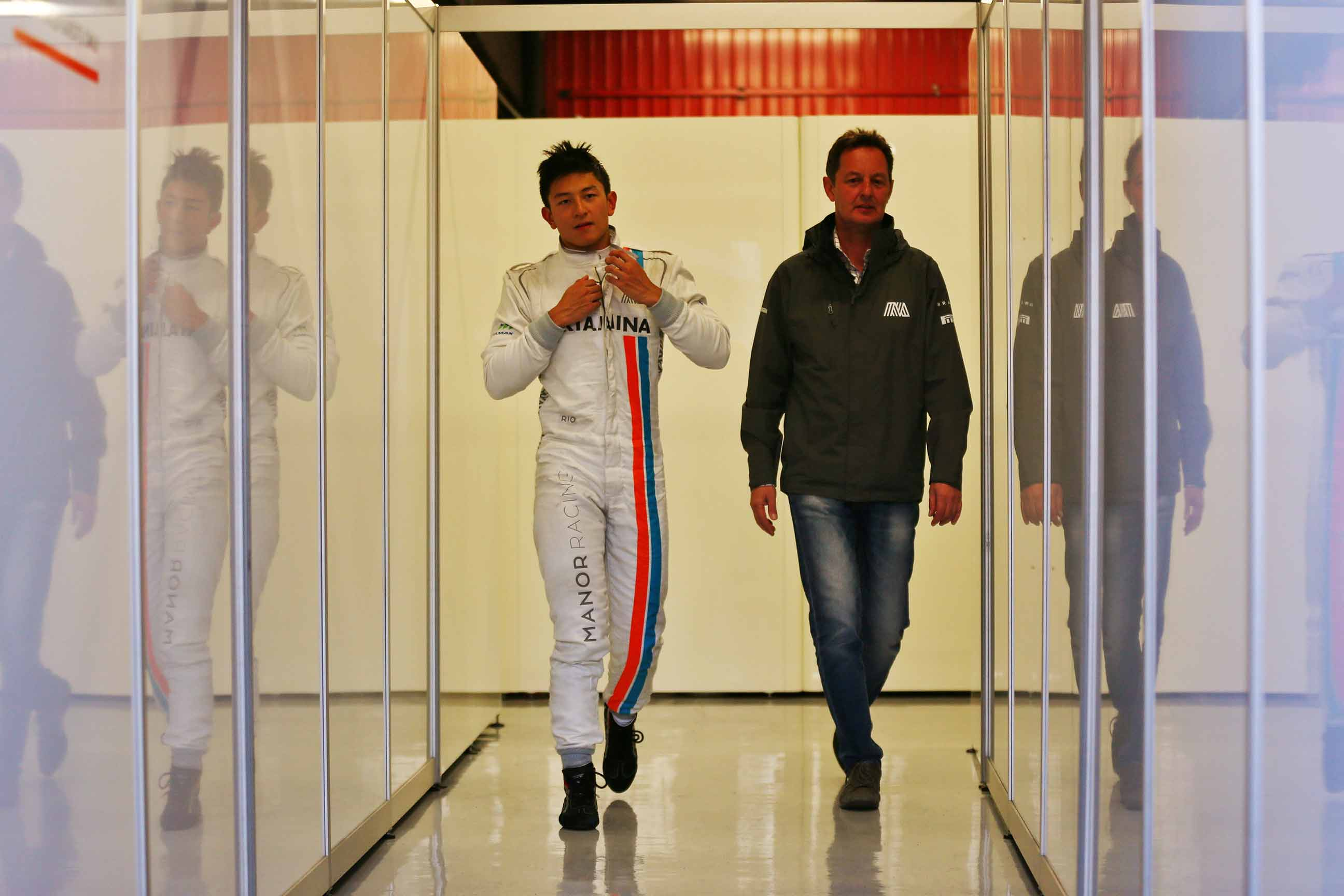 Rio Haryanto with Piers